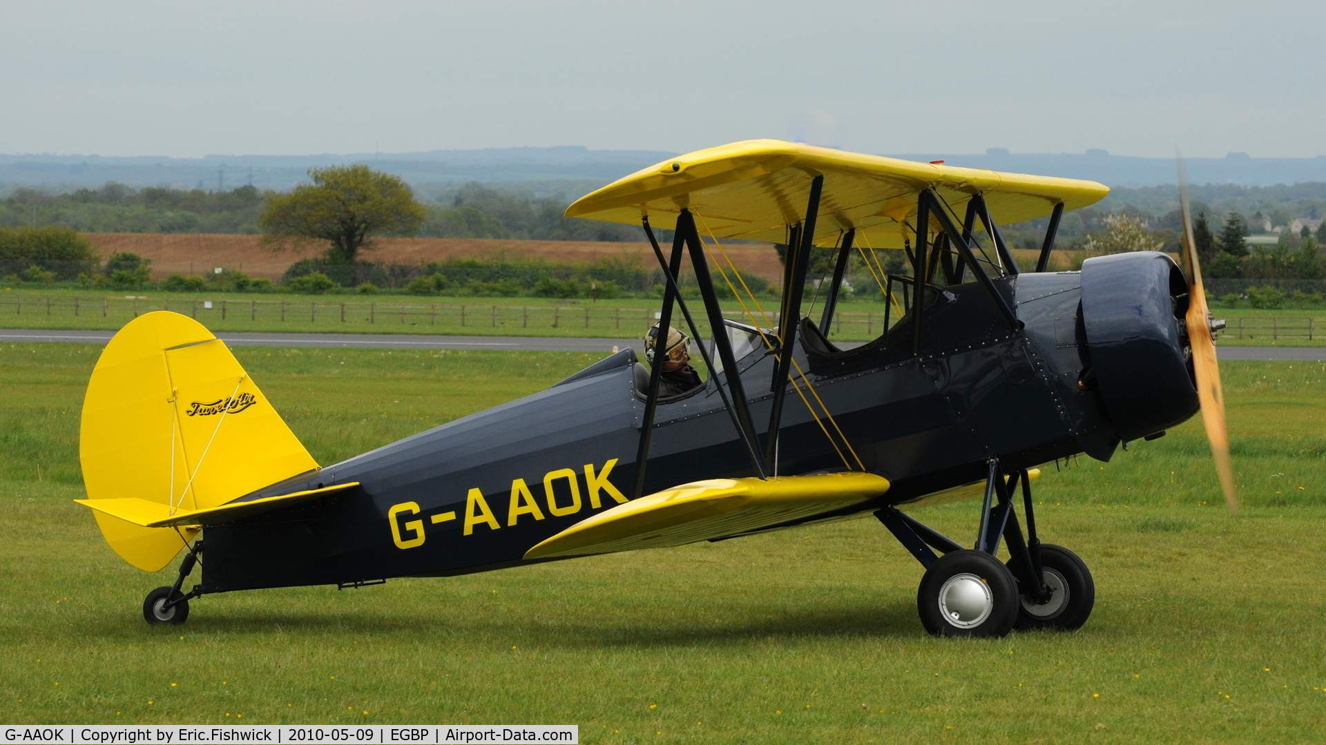 G-AAOK, 1929 Curtiss-Wright Travel Air 12Q C/N 2026, 2. G-AAOK at Kemble Airport (Great Vintage Flying Weekend)