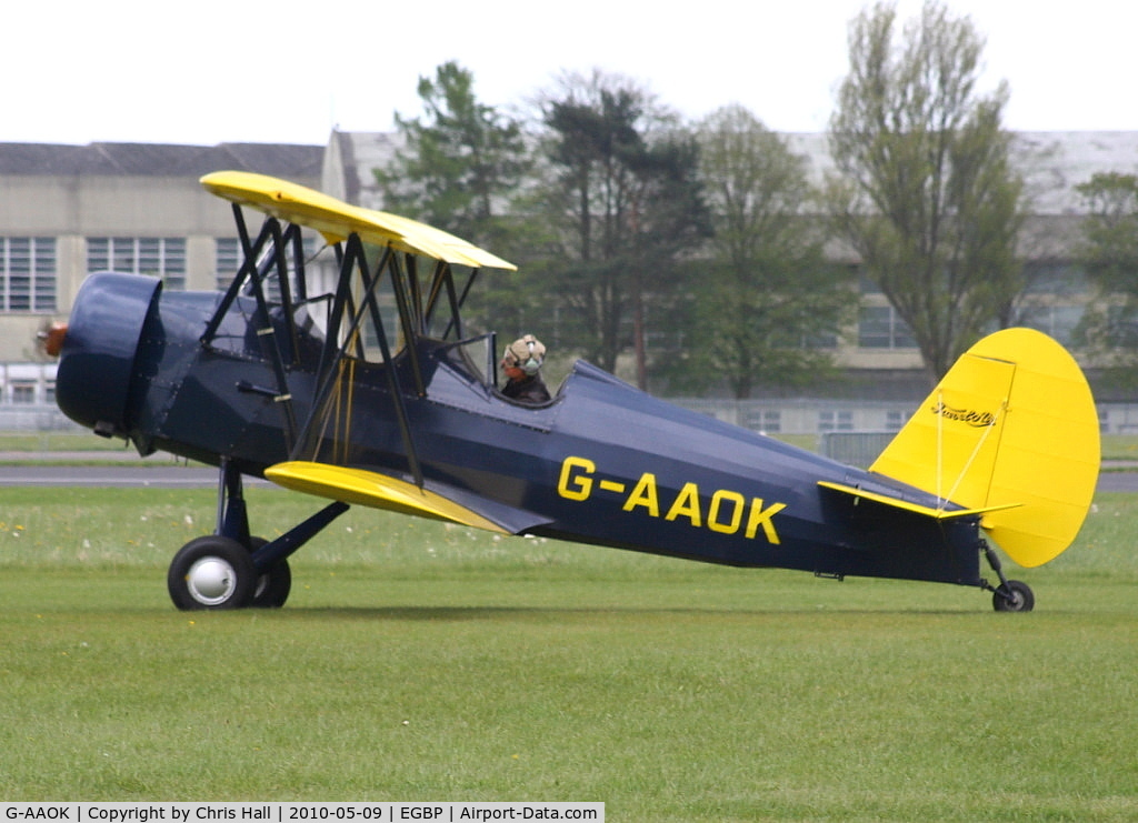G-AAOK, 1929 Curtiss-Wright Travel Air 12Q C/N 2026, at the Great Vintage Flying Weekend