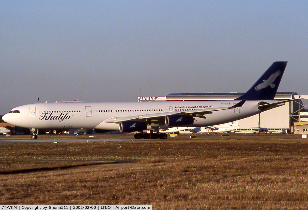 7T-VKM, 1996 Airbus A340-313X C/N 139, Lining up rwy 32R for departure...