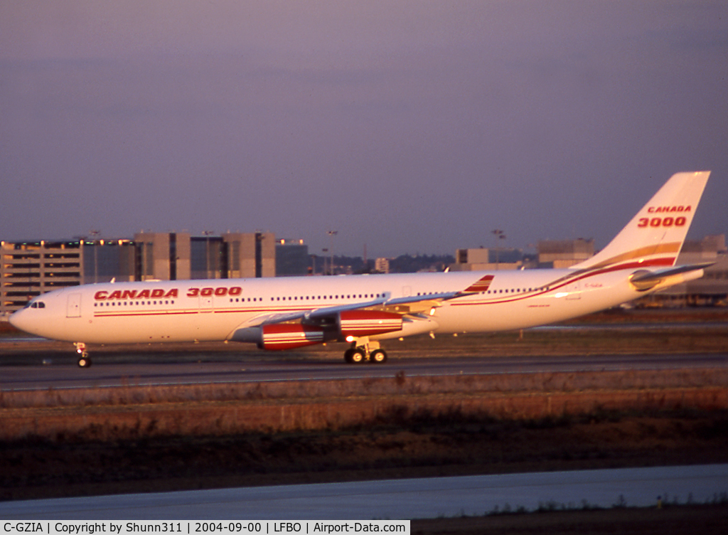 C-GZIA, 2001 Airbus A340-313 C/N 395, Delivery day...