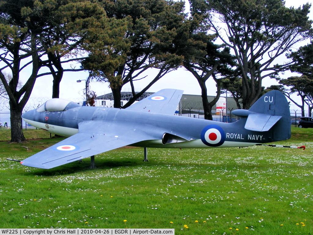 WF225, 1953 Hawker Sea Hawk F.1 C/N 5885, RNAS Culdrose gate guard