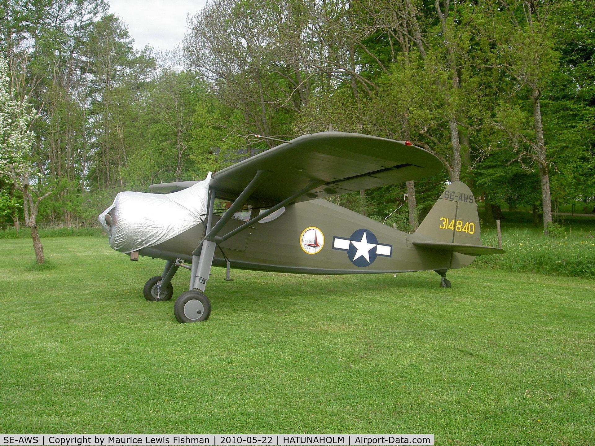 SE-AWS, 1943 Fairchild UC-61A Argus II (24W-41A) C/N 804, Fairchild UC-61A Argus II, c/n: 804