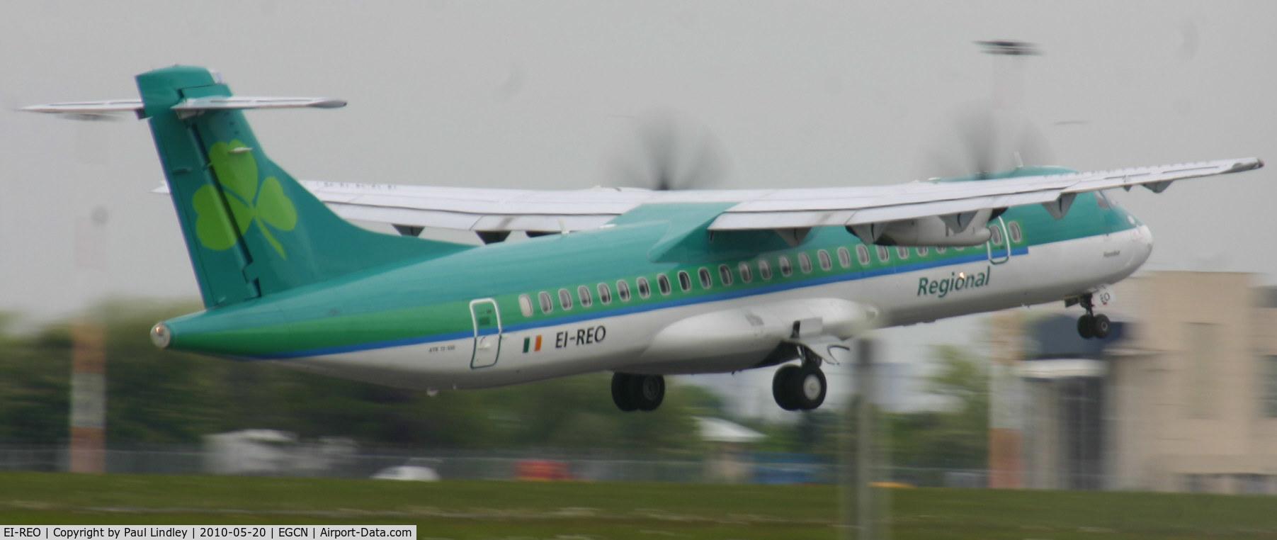 EI-REO, 2008 ATR 72-212A C/N 787, away to Dublin