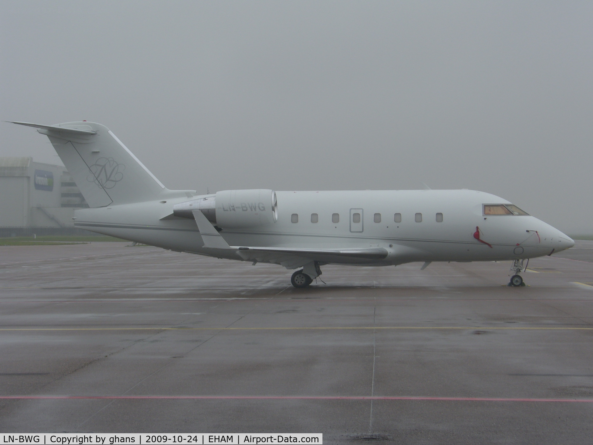 LN-BWG, 1997 Canadair Challenger 604 (CL-600-2B16) C/N 5328, On a foggy day