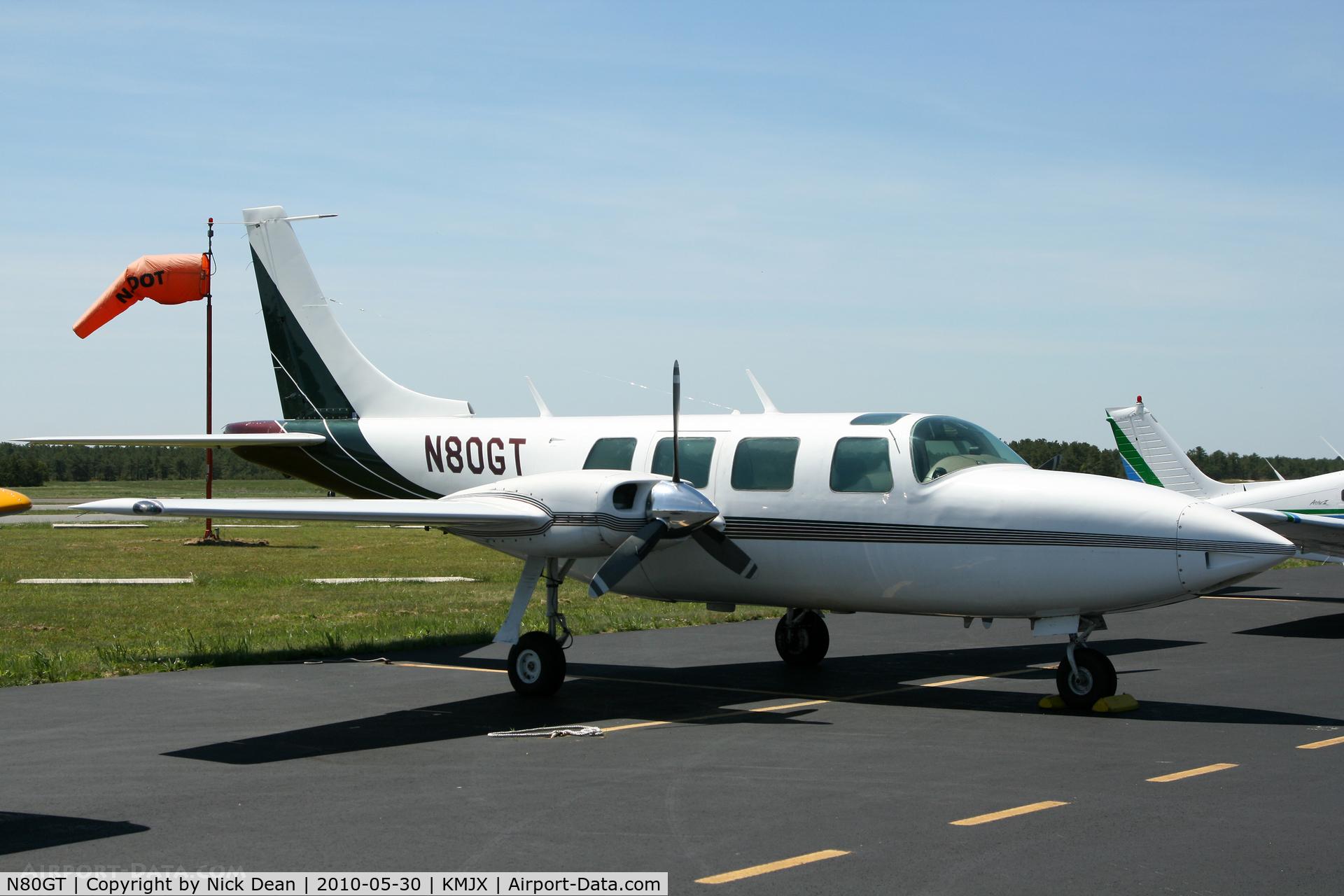 N80GT, Piper AEROSTAR 601B C/N 61-0717-8062144, KMJX