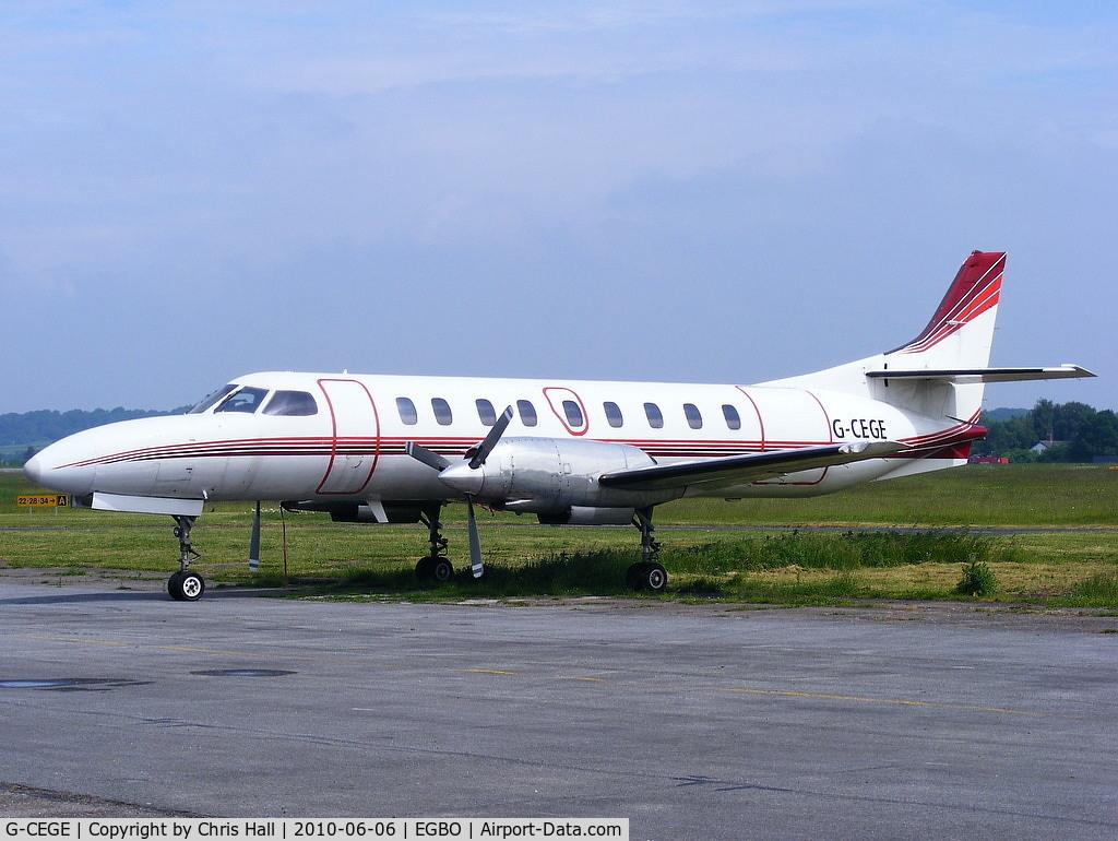 G-CEGE, 1978 Swearingen SA-226TC Metro II C/N TC-258, Blue City Aviation Ltd, Previous ID: OY-NPA