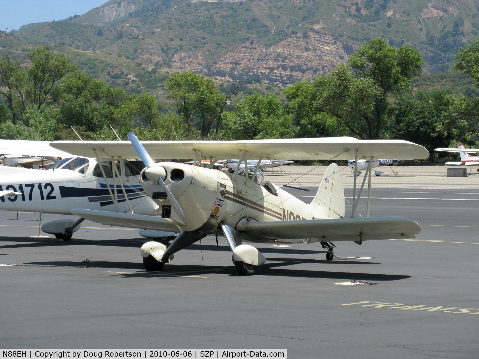 N88EH, 1970 EAA Biplane C/N EHH-1, 1970 Hooper EAA BIPLANE, Model P ACRO-SPORT, 'Woodstock', Lycoming O-290 135 Hp
