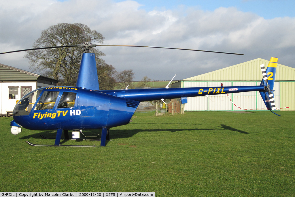 G-PIXL, 2006 Robinson R44 Raven II C/N 11221, Robinson R44 Raven ll at Fishburn Airfield, UK in