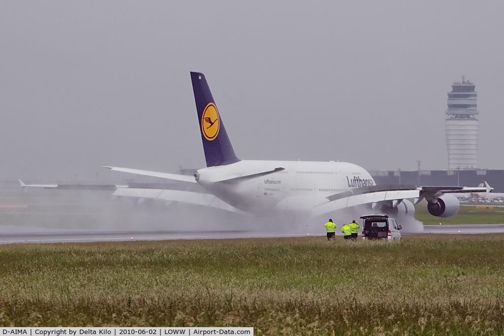 D-AIMA, 2010 Airbus A380-841 C/N 038, first Visit in Vienna