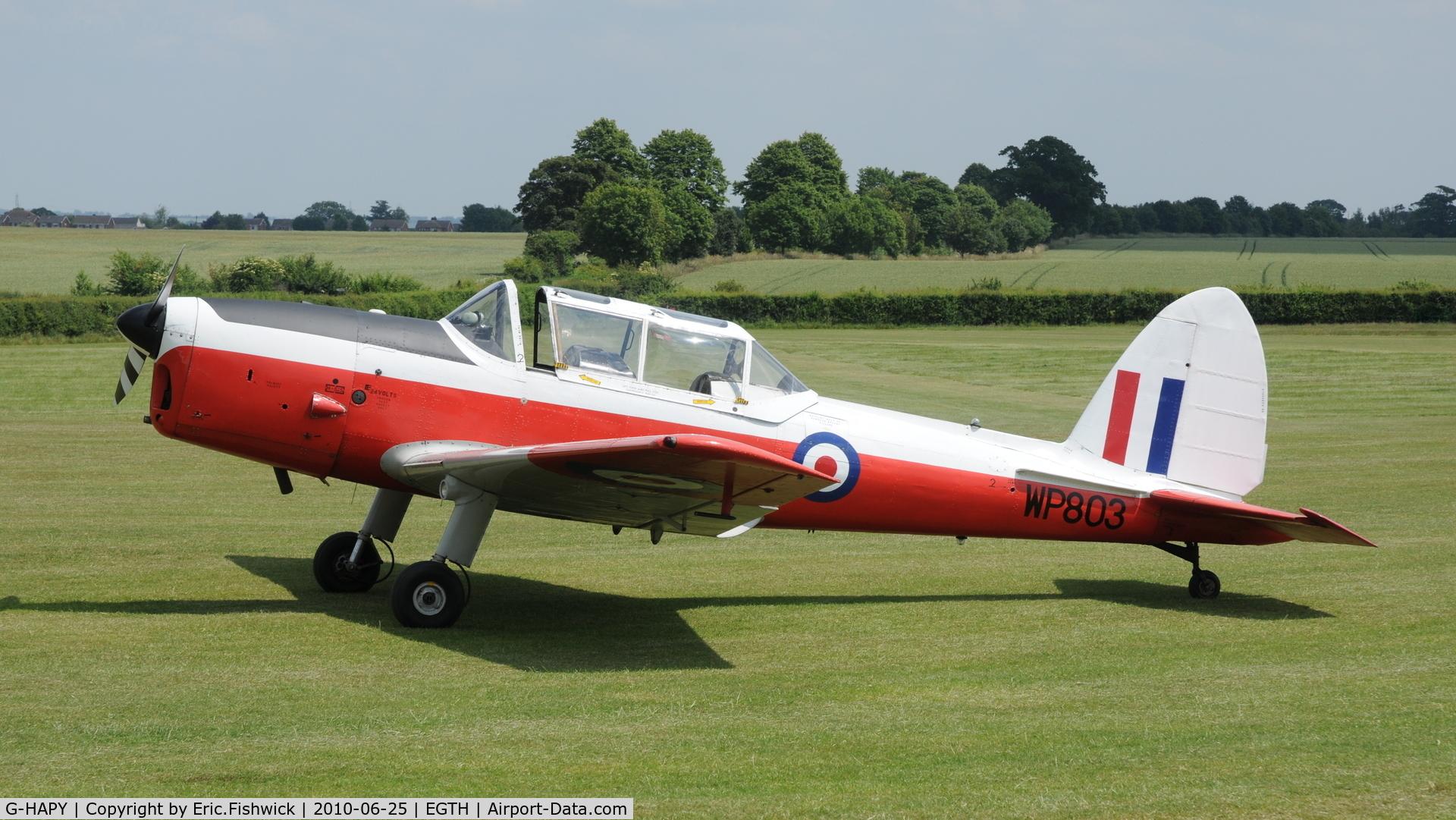 G-HAPY, 1952 De Havilland DHC-1 Chipmunk T.10 C/N C1/0697, WP803 visiting Shuttleworth (Old Warden) Airfield