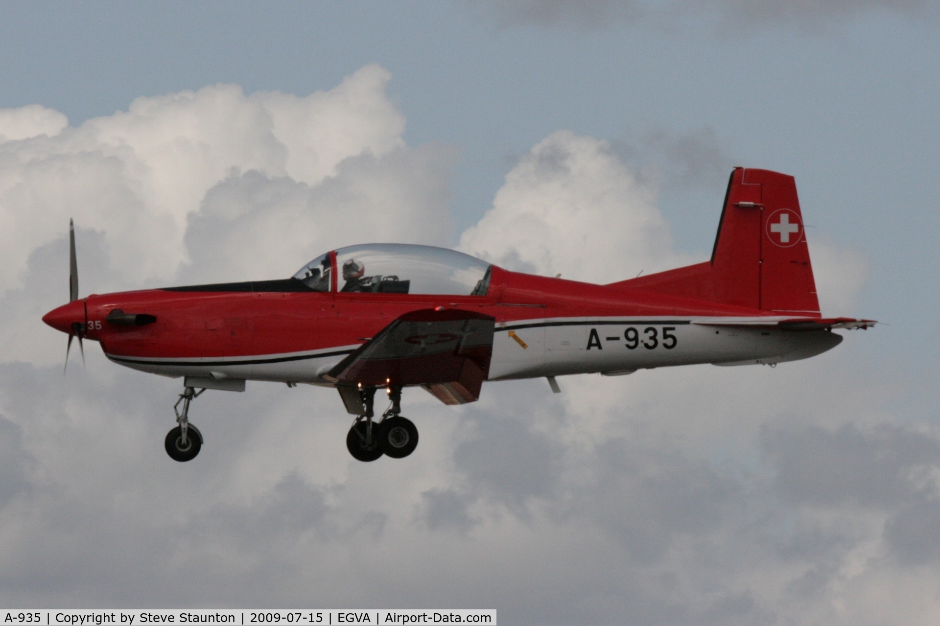 A-935, 1983 Pilatus PC-7 Turbo Trainer C/N 343, Taken at the Royal International Air Tattoo 2009