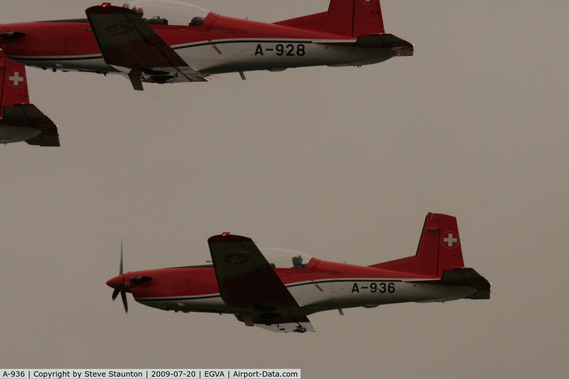 A-936, 1983 Pilatus PC-7 Turbo Trainer C/N 344, Taken at the Royal International Air Tattoo 2009