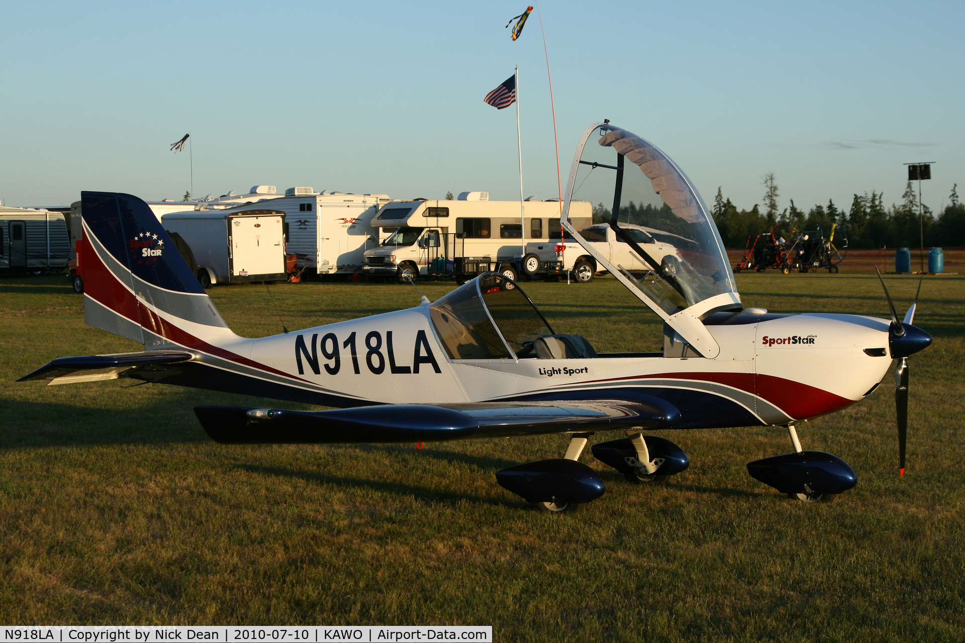 N918LA, 2007 Evektor-Aerotechnik SPORTSTAR PLUS C/N 20070918, KAWO