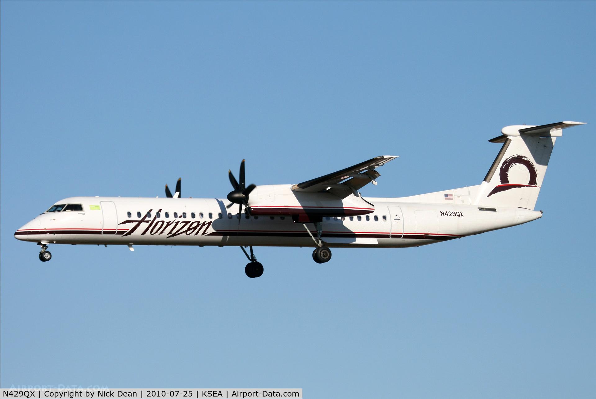 N429QX, 2007 De Havilland Canada DHC-8-402 Dash 8 C/N 4161, KSEA