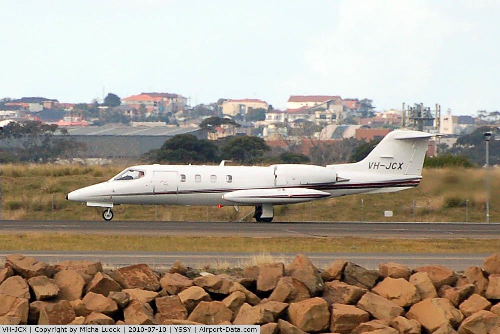 VH-JCX, 1986 Gates Learjet 36A C/N 36A-057, At Sydney