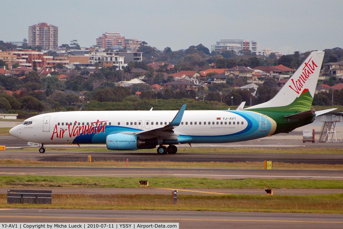 YJ-AV1, 2007 Boeing 737-8Q8 C/N 30734, At Sydney
