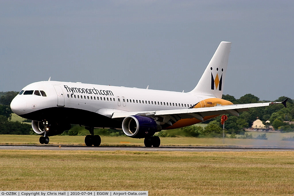 G-OZBK, 2000 Airbus A320-214 C/N 1370, Monarch Airlines