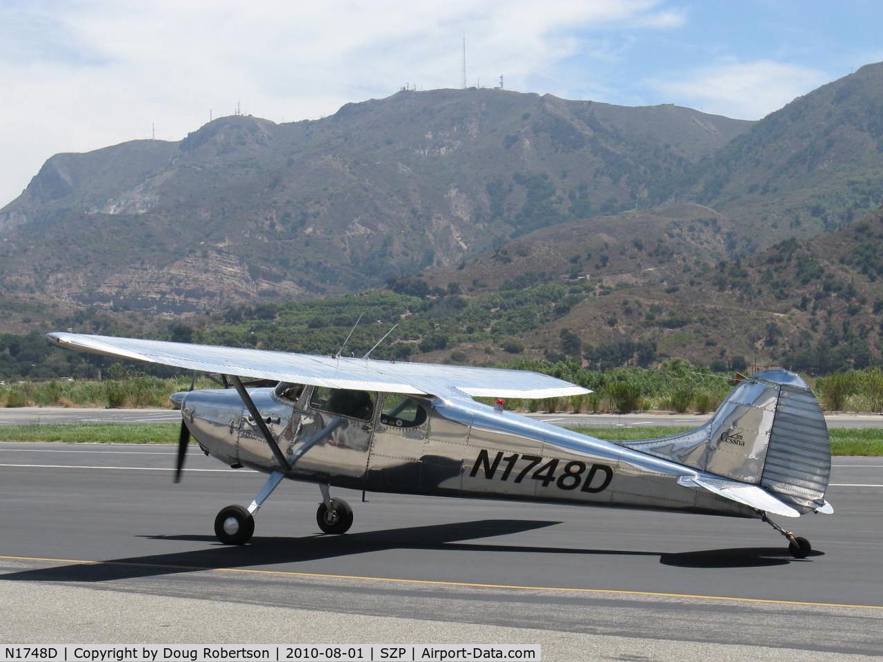 N1748D, 1951 Cessna 170A C/N 20191, 1951 Cessna 170A, Continental C145 145 Hp, taxi back