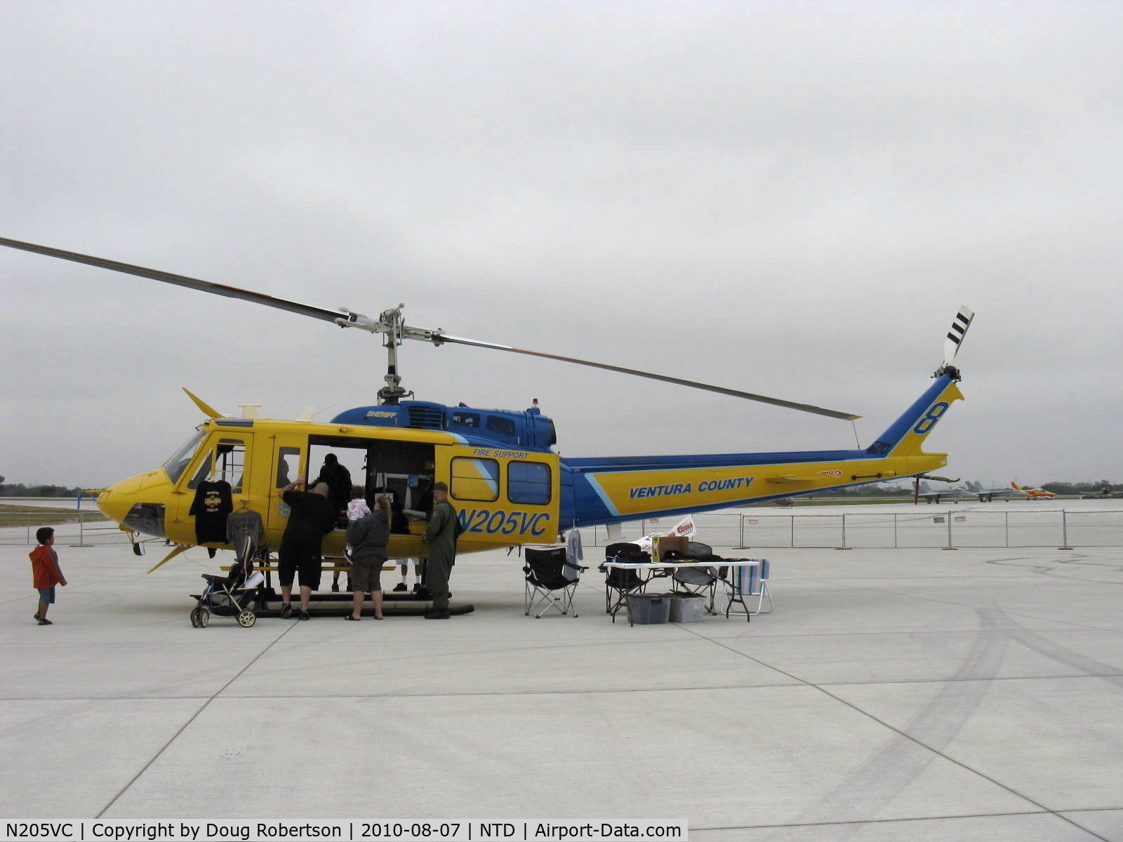 N205VC, 1969 Bell 205A-1 C/N 30066, 1969 Bell 205A-1, one 1,400 shp AVCO Lycoming TS313A Turboshaft derated to 1,250 shp for takeoff. Ventura County Sheriff's Department #8