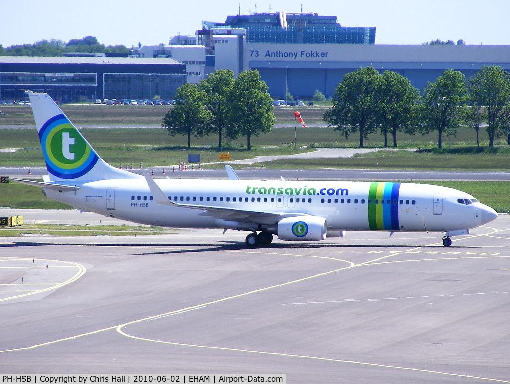 PH-HSB, 2010 Boeing 737-8K2 C/N 34172, Transavia Airlines