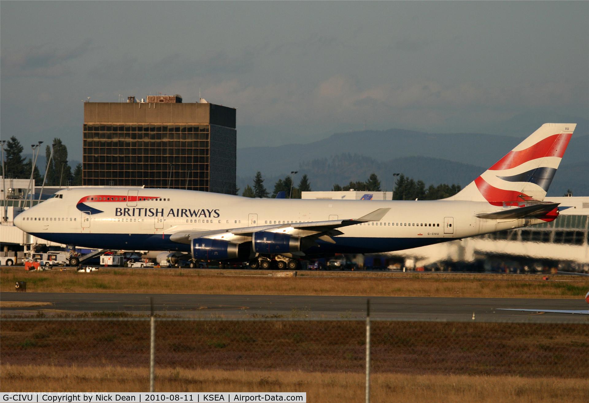 G-CIVU, 1998 Boeing 747-436 C/N 25810, KSEA