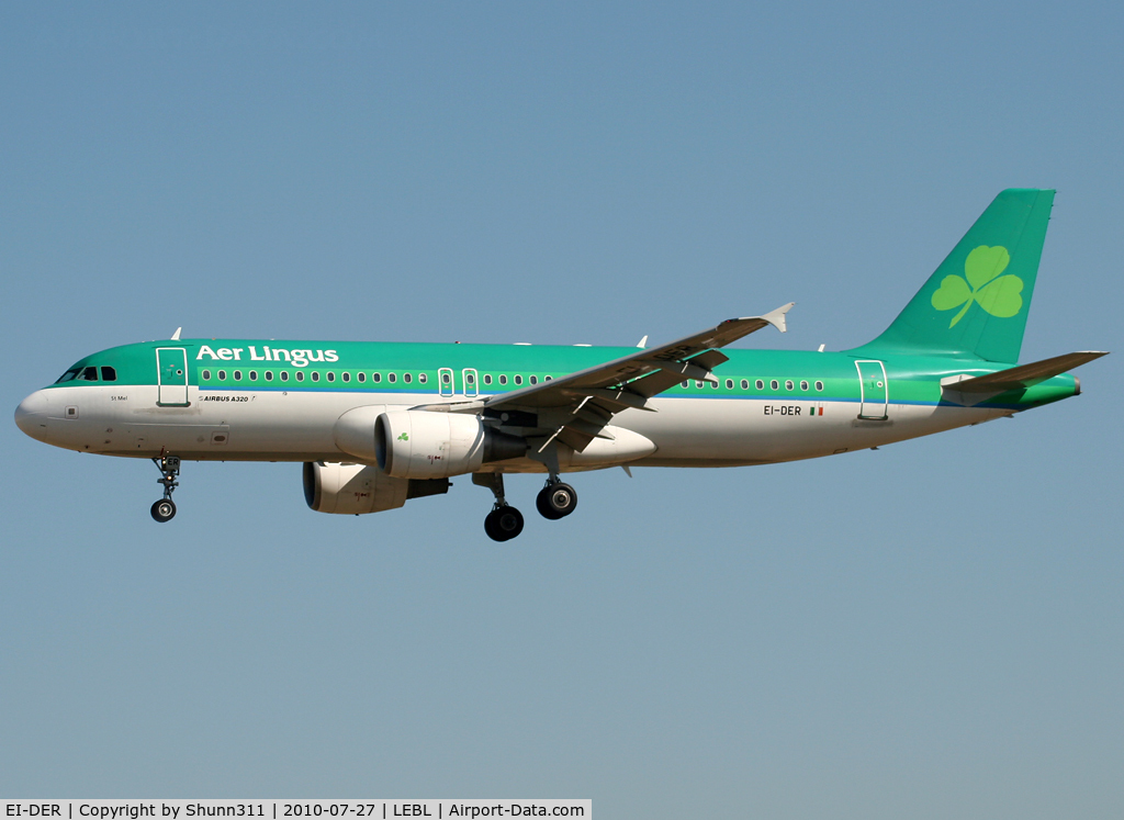 EI-DER, 2005 Airbus A320-214 C/N 2583, Landing rwy 25R
