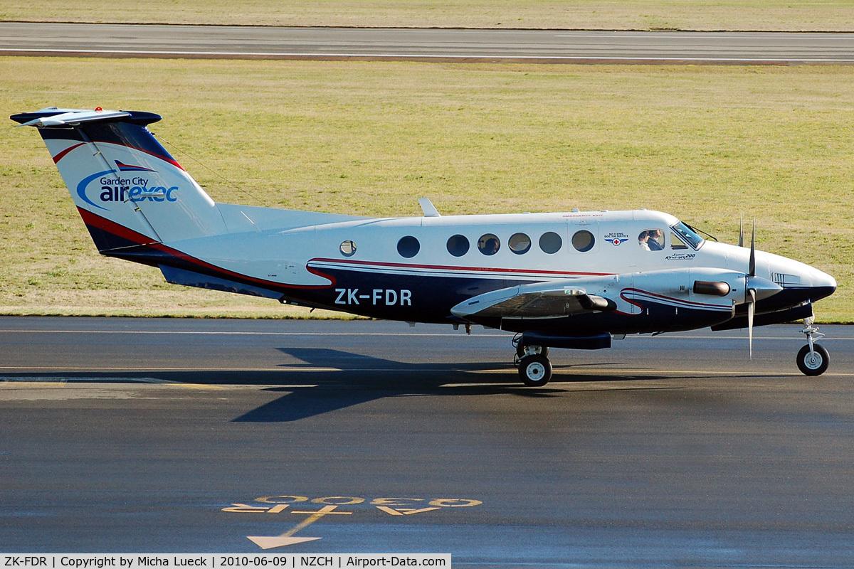 ZK-FDR, 1981 Beech 200C Super King Air C/N BL-31, At Christchurch