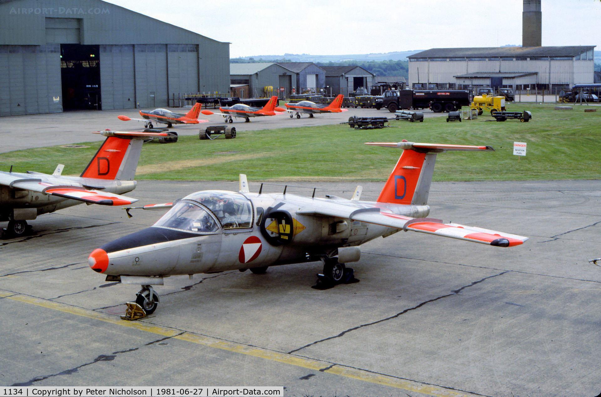 Karo As aircraft 1134 saab 105oe c n 105434 photo by nicholson