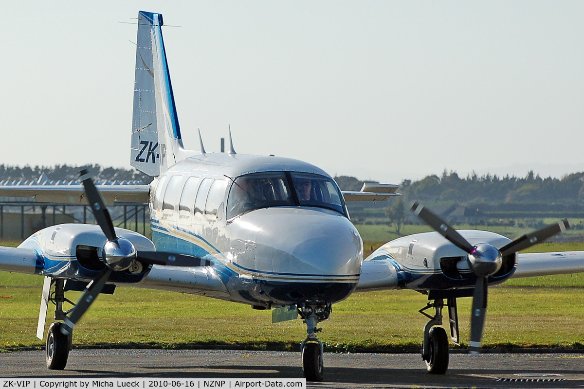 ZK-VIP, Piper PA-31-350 Chieftain C/N 31-7405482, At New Plymouth