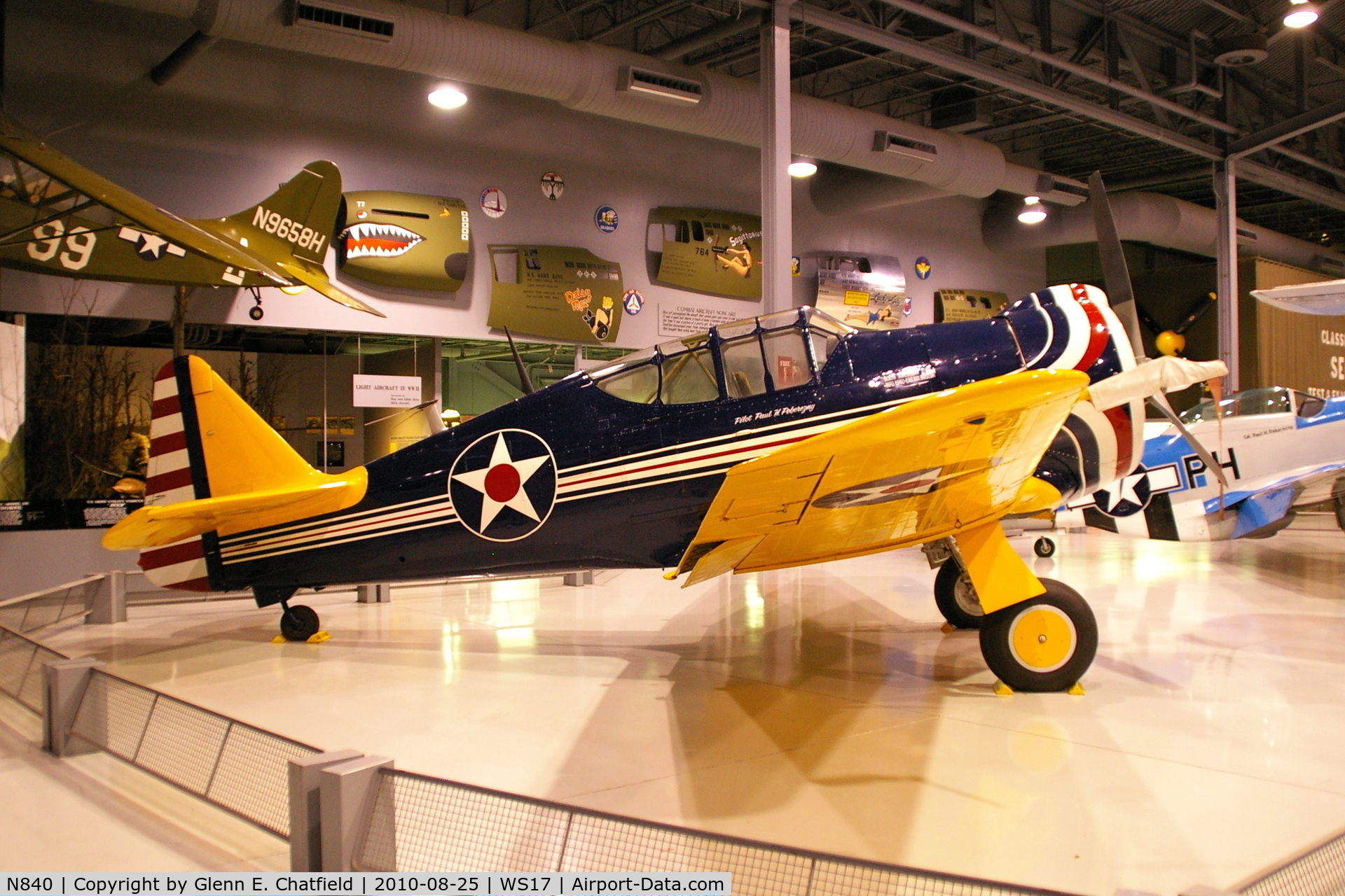 N840, 1940 North American P-64 C/N 68-3061, At the EAA Museum