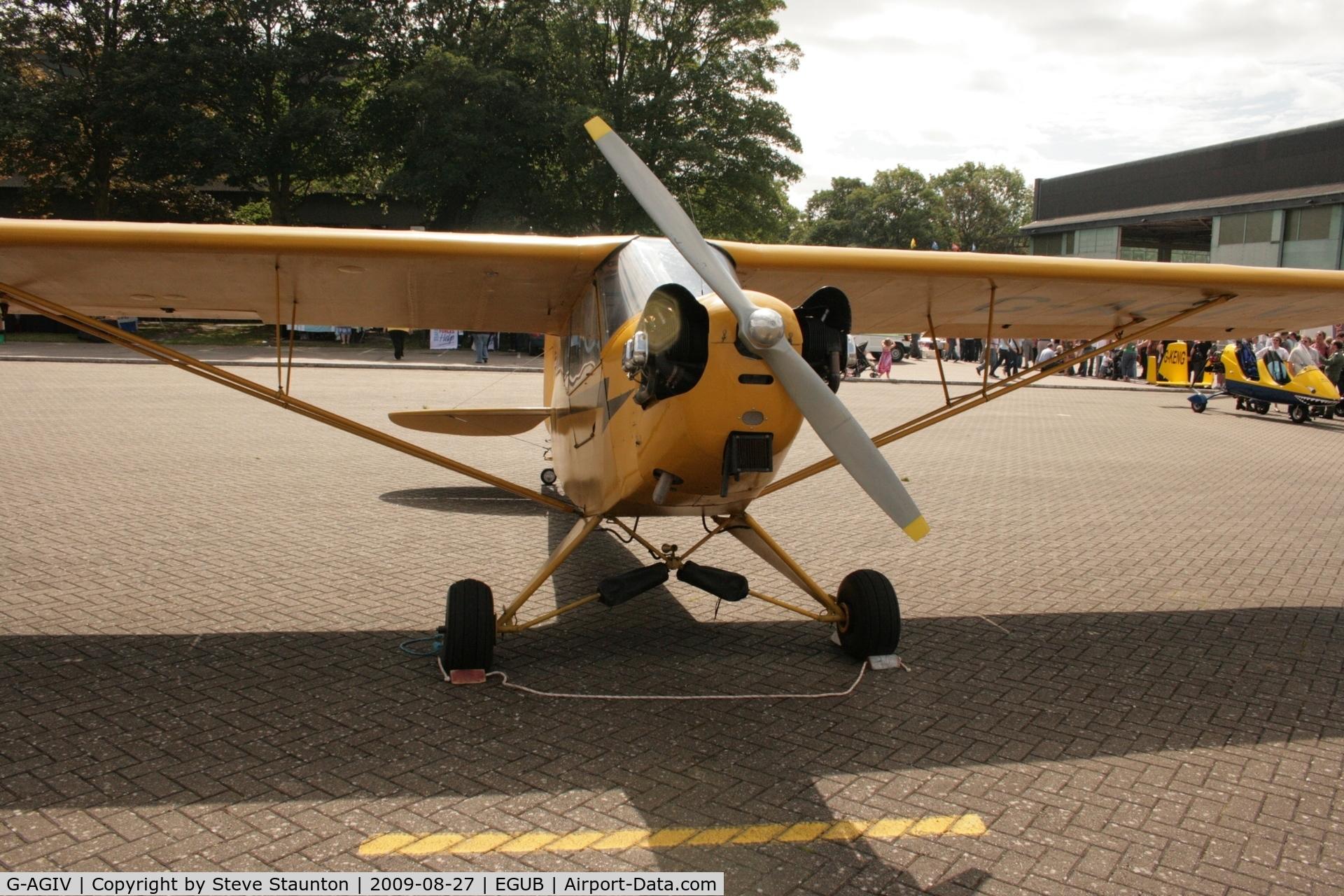 G-AGIV, 1944 Piper L-4J Grasshopper (J3C-65D) C/N 12676, Taken at RAF Benson Families Day, August 2009