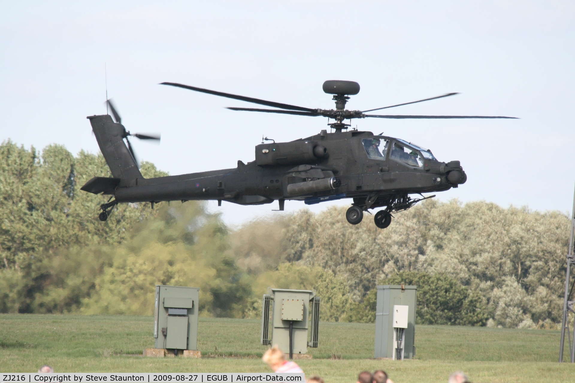 ZJ216, Westland Apache AH.1 C/N WAH.050, Taken at RAF Benson Families Day, August 2009