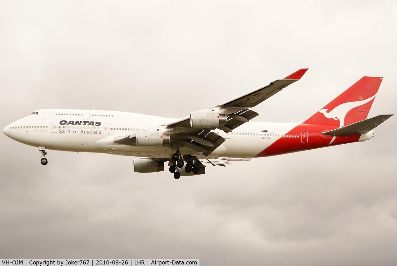 VH-OJM, 1991 Boeing 747-438 C/N 25245, Qantas