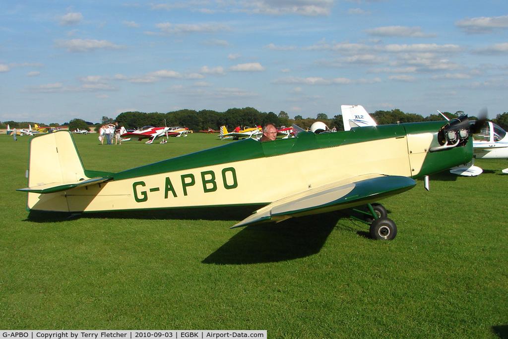 G-APBO, 1960 Druine D-5 Turbi C/N PFA 229, 1960 Roche F DRUINE D.5 TURBI, c/n: PFA 229 at 2010 LAA National Rally