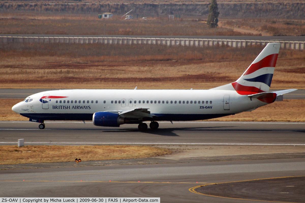 ZS-OAV, 1993 Boeing 737-4H6 C/N 27086, At Joburg