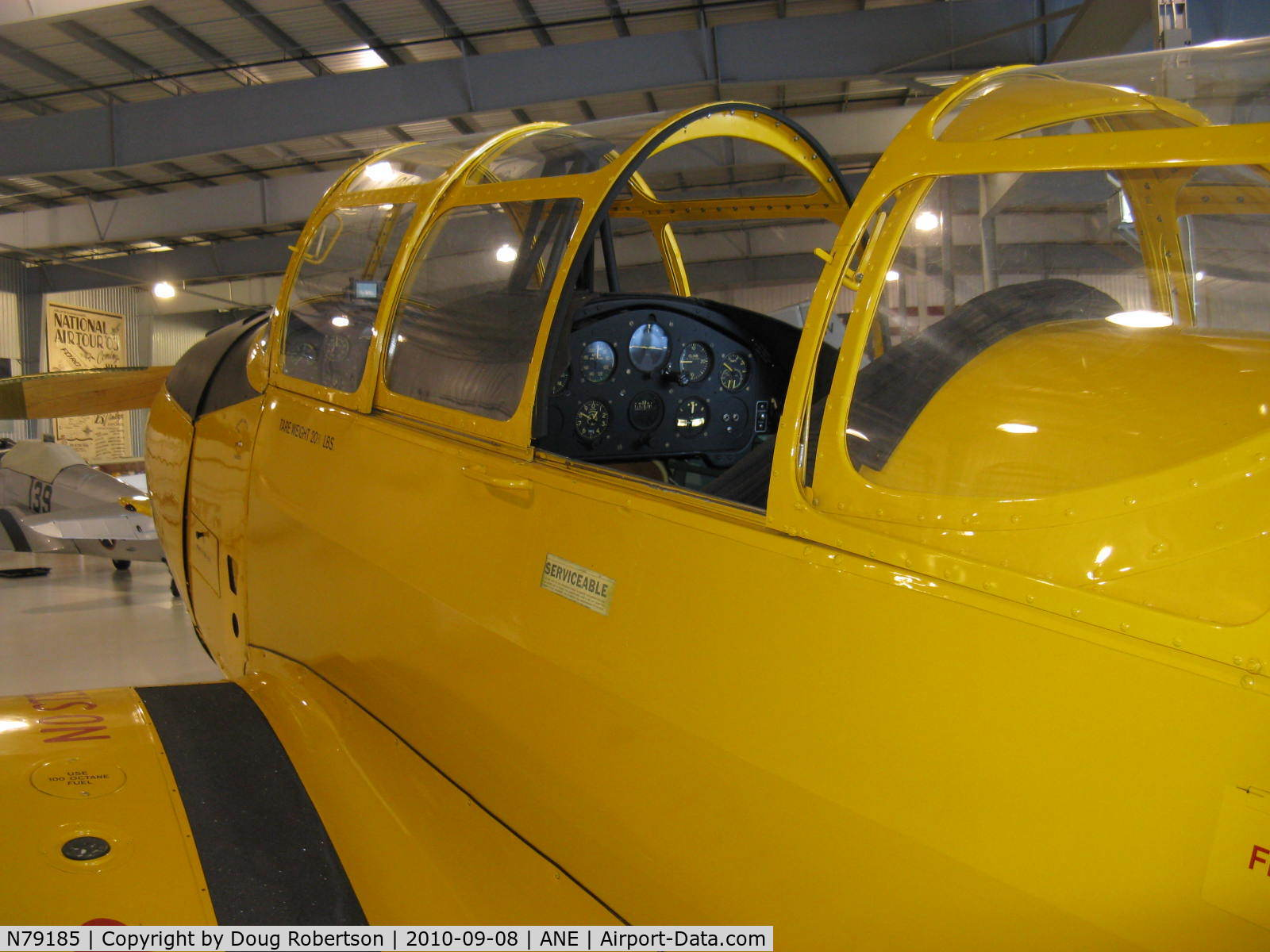 N79185, 1942 Fairchild M-62A-4 C/N FC180, 1942 Fairchild M-62A-4 as PT-26, Fairchild 6-440C-2 175 Hp, cockpits, at Golden Wings Museum