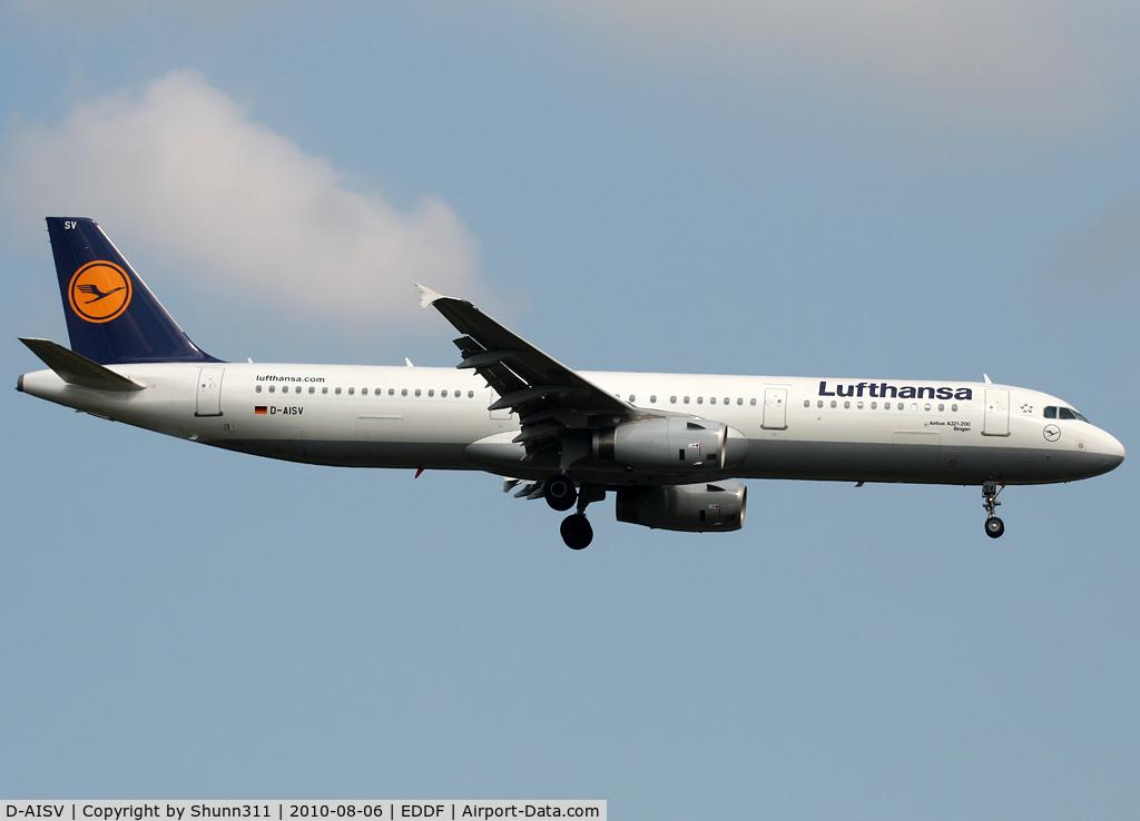 D-AISV, 2009 Airbus A321-231 C/N 4050, Landing rwy 07R