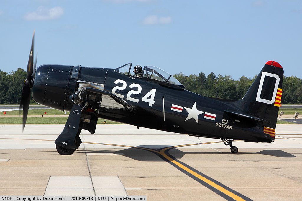 N1DF, 1948 Grumman F8F-2 (G58) Bearcat C/N D.1122, 1948 Grumman F8F-2 Bearcat from Chino, CA performed at the 2010 NAS Oceana Air Show as part of