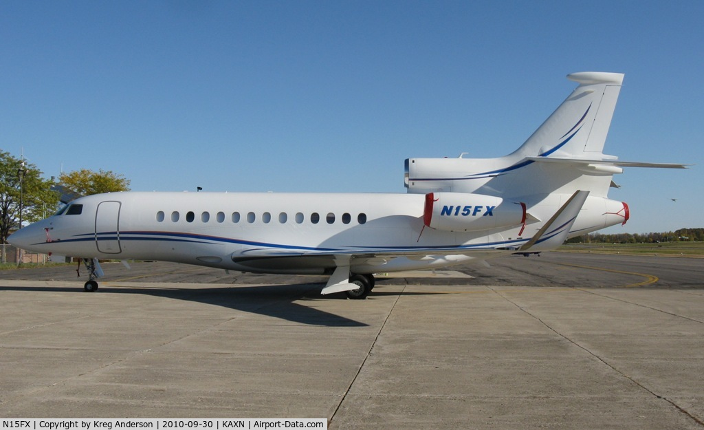 N15FX, 2010 Dassault Falcon 7X C/N 100, Dassault 7X on the ramp at Alexandria, MN.