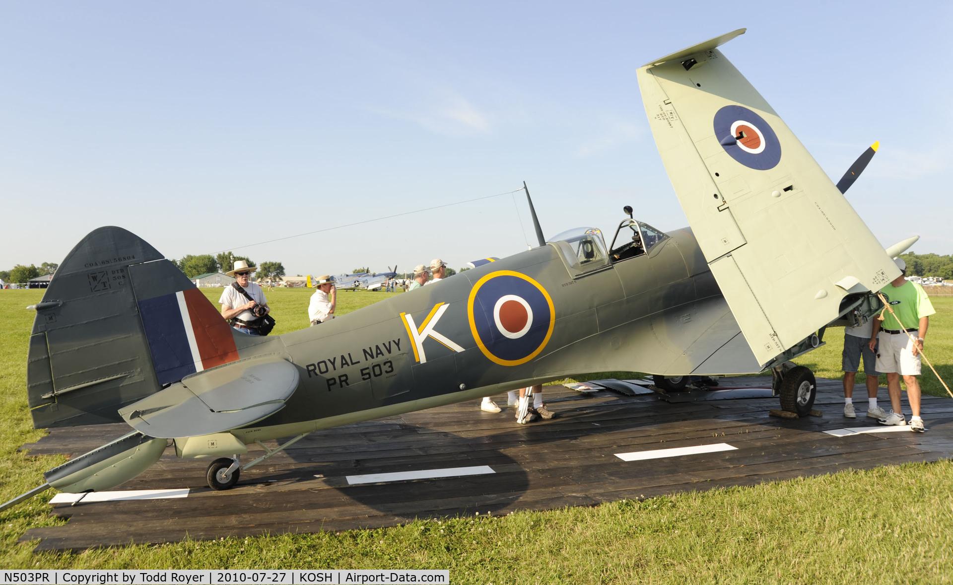 N503PR, 1945 Supermarine Seafire FXVc C/N COA.30621, EAA AIRVENTURE 2010