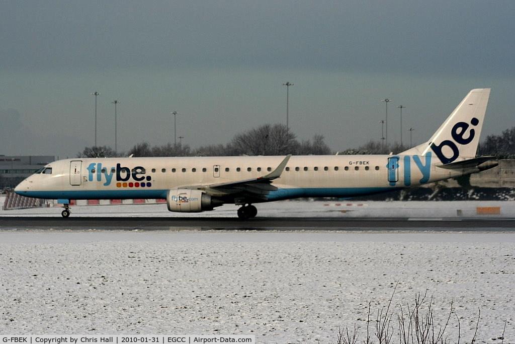 G-FBEK, 2008 Embraer 195LR (ERJ-190-200LR) C/N 19000168, flybe