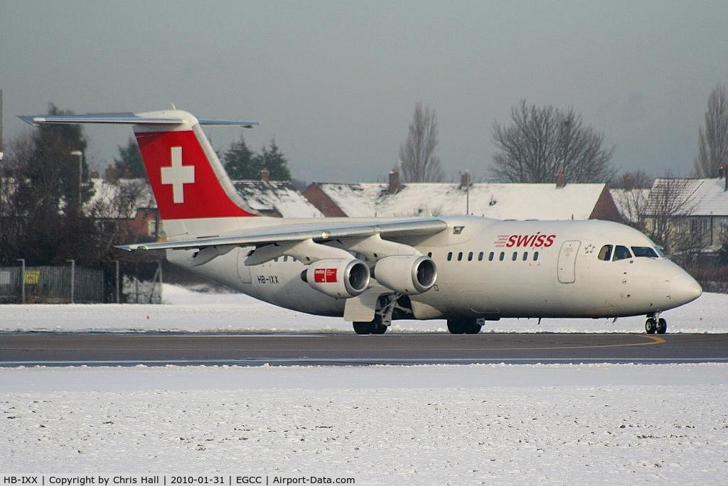 HB-IXX, 1995 British Aerospace Avro 146-RJ100 C/N E3262, Swiss European Airlines