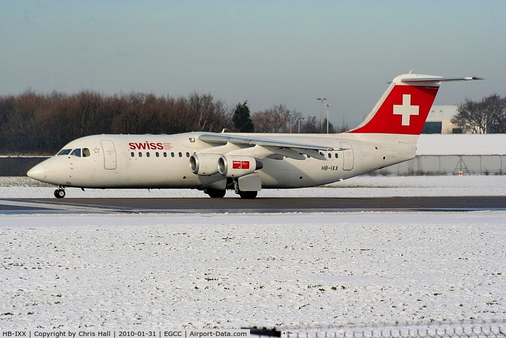 HB-IXX, 1995 British Aerospace Avro 146-RJ100 C/N E3262, Swiss European Air Lines