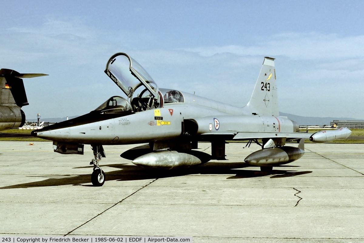 243, 1966 Northrop F-5B Freedom Fighter C/N N.9007, Frankfurt Rhein Main AB open house
