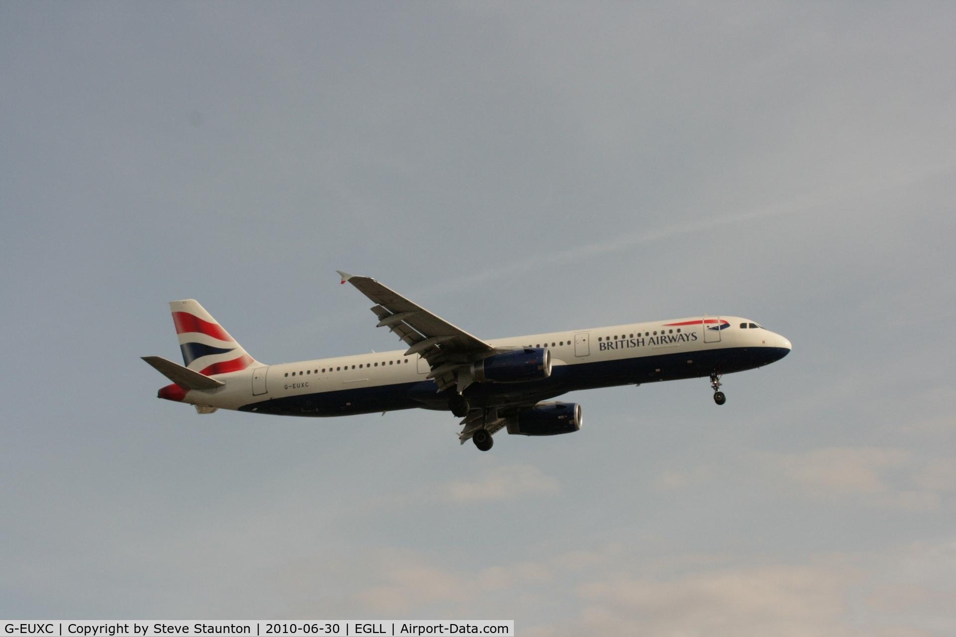 G-EUXC, 2004 Airbus A321-231 C/N 2305, Taken at Heathrow Airport, June 2010