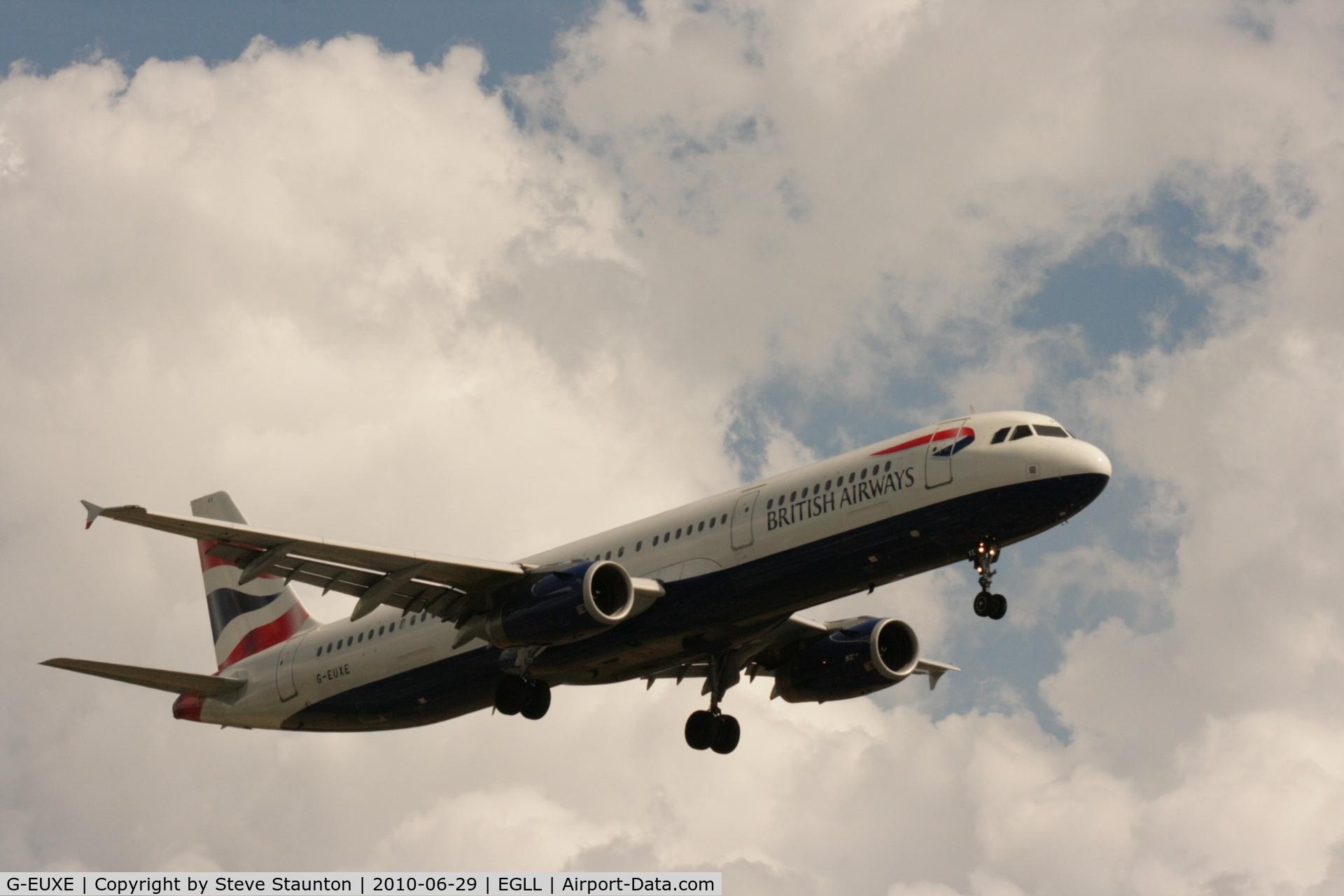 G-EUXE, 2004 Airbus A321-231 C/N 2323, Taken at Heathrow Airport, June 2010