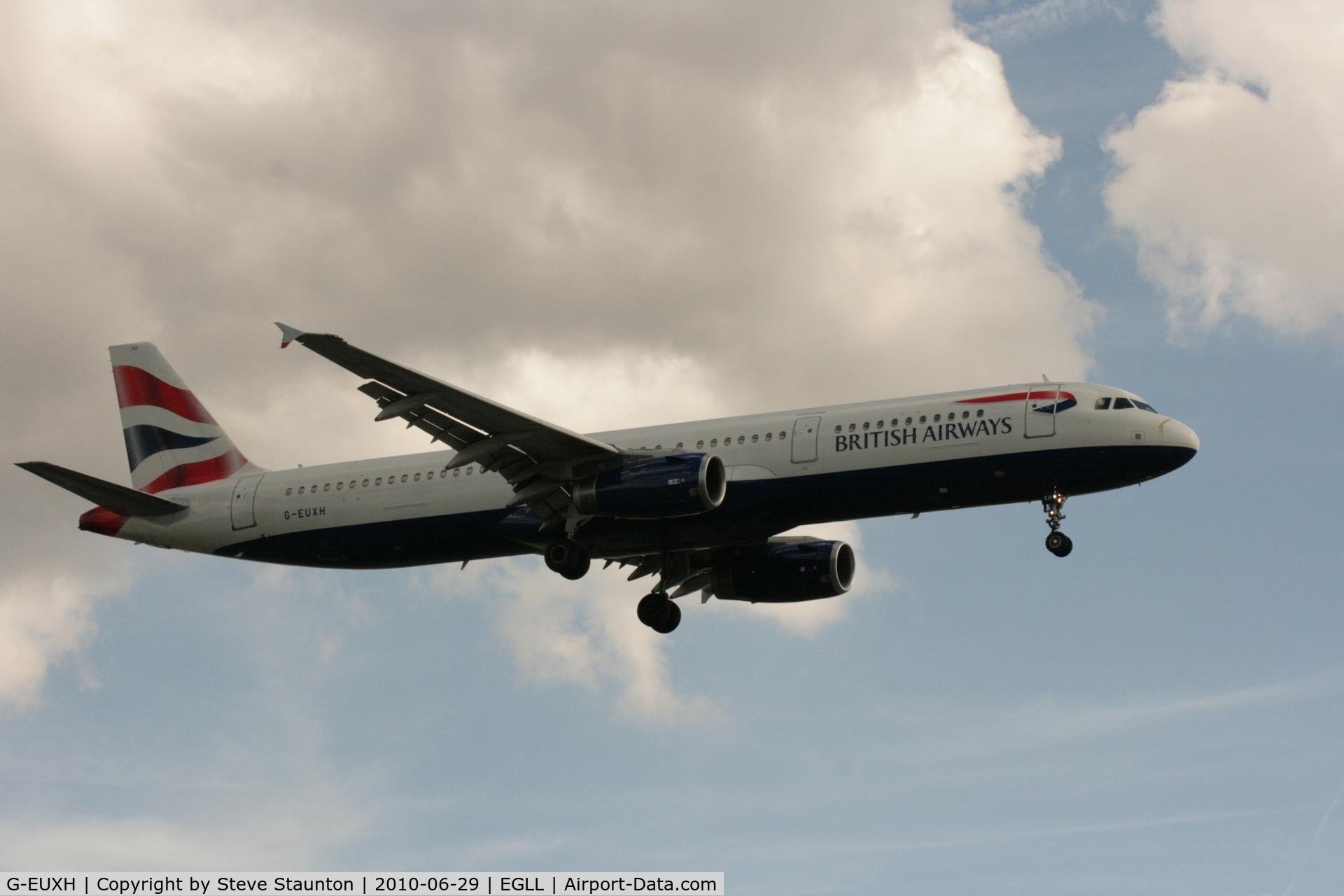 G-EUXH, 2004 Airbus A321-231 C/N 2363, Taken at Heathrow Airport, June 2010