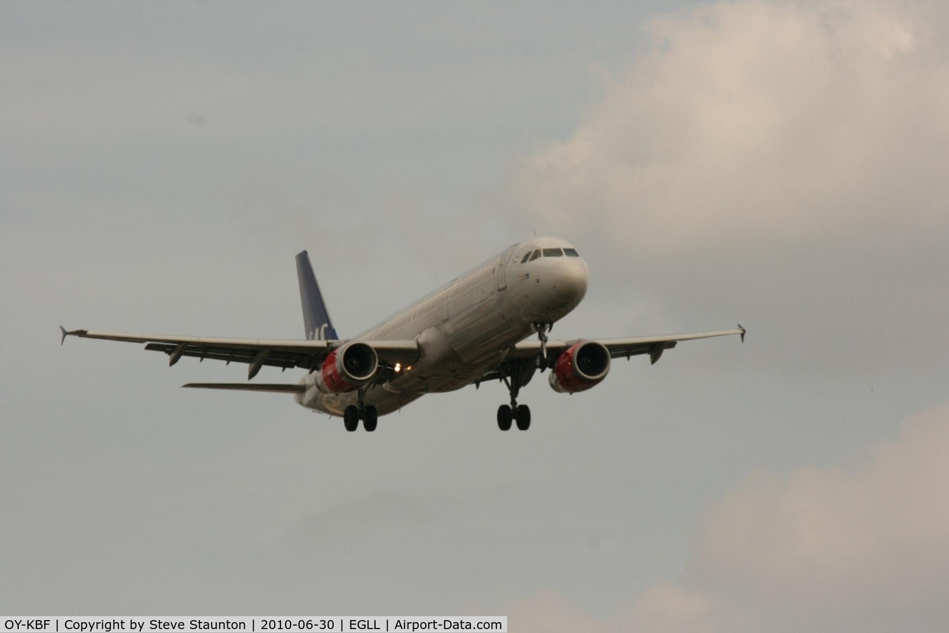 OY-KBF, 2002 Airbus A321-232 C/N 1807, Taken at Heathrow Airport, June 2010