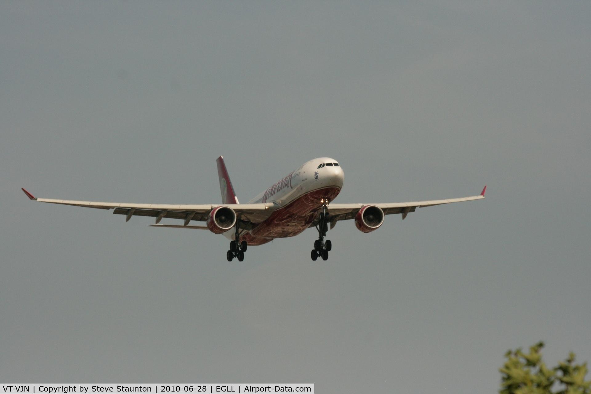 VT-VJN, 2008 Airbus A330-223 C/N 927, Taken at Heathrow Airport, June 2010