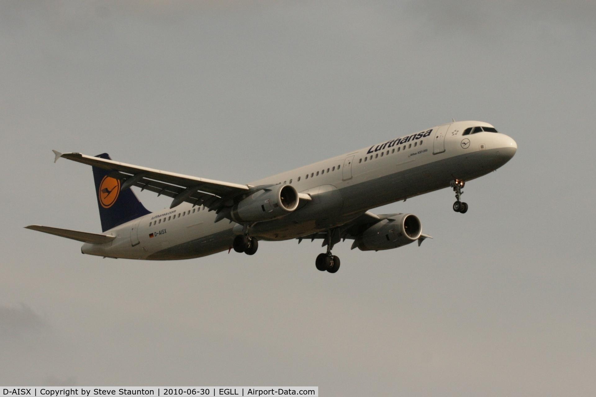 D-AISX, 2009 Airbus A321-231 C/N 4073, Taken at Heathrow Airport, June 2010